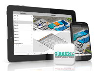 Screenshots of glasstec App