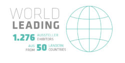 World leading: 1.276 exhibitors from 50 countries.