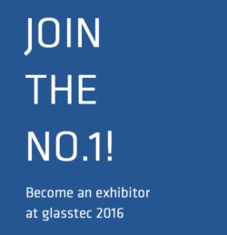 Graphik Join the No.1, become an exhibitor at glasstec 2016