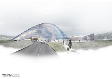 Visualisation of the British Glass Academy courtesy of Wilkinson Eyre Architects