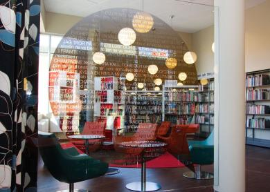 [12-12_ipachrome] ipachrome design, library in Stockholm. Photo: Interpane