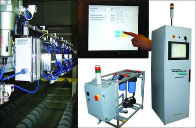 Ultrasonic anti stain coating system